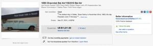 ebay Angebot von Lee Harvey Oswalds 55er BelAir