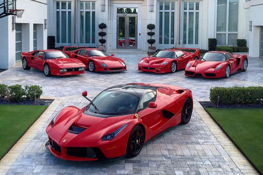 Ferrari Super 5 Collection Ein Golfer Hat Sie Alle