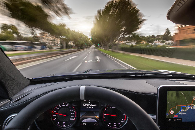 Mercedes-AMG C63S Hud Cockpit