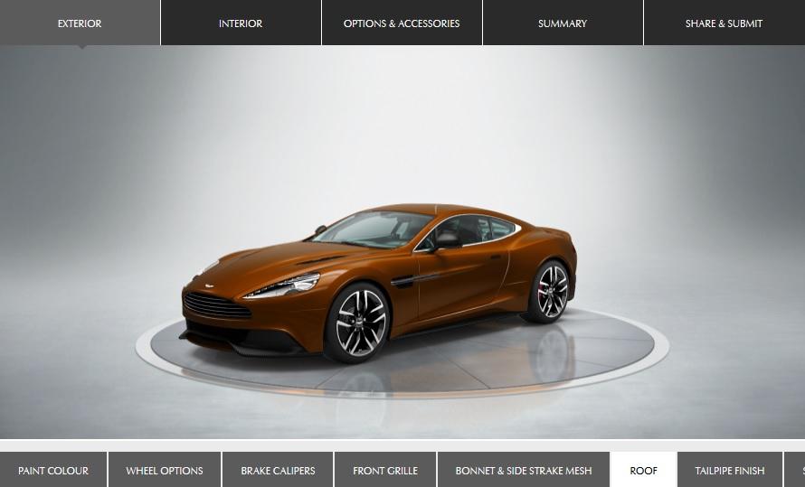 Aston Martin Konfigurator Motorblock