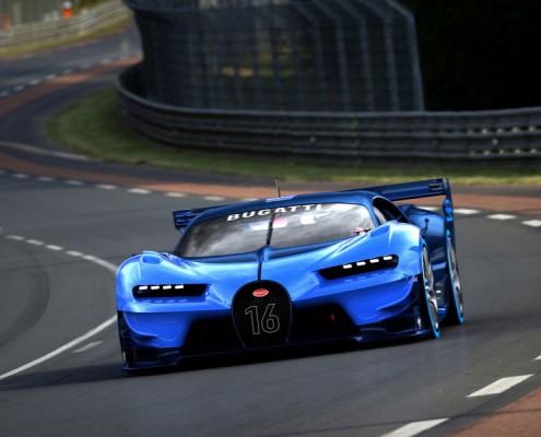 Bugatti Chiron Front Kühlergrill Rennstrecke