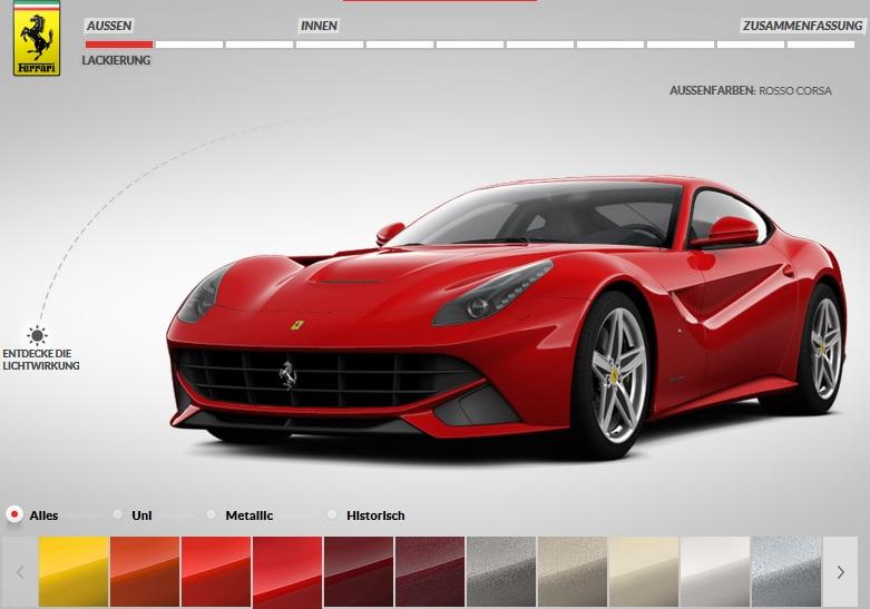 Ferrari Konfigurator