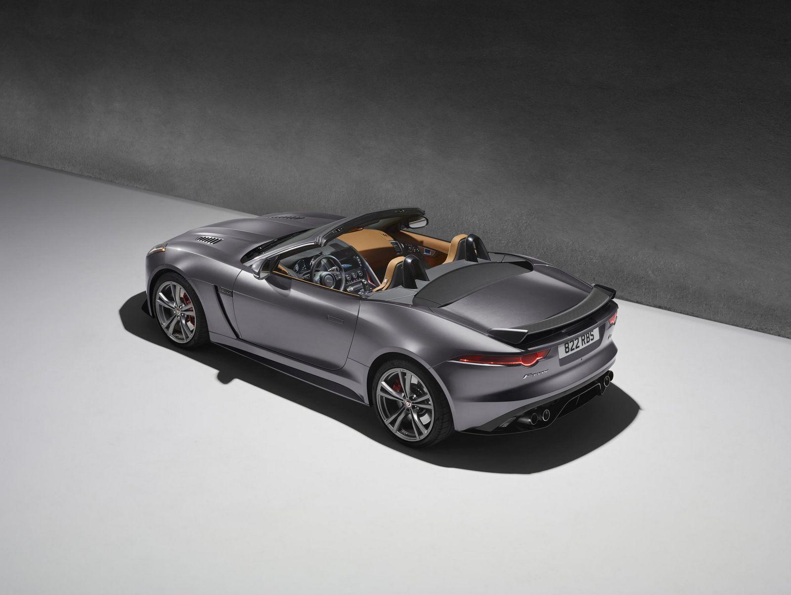 Jaguar F-Type SVR Seite Heck Kabrio Felgen Spoiler Innenraum