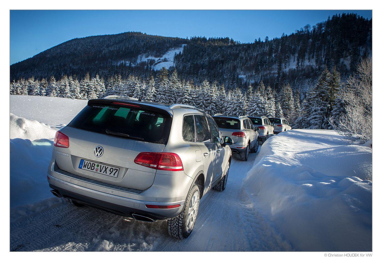 VW Touareg Winter Driving