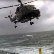 Helikopterlandung auf hoher See