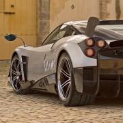 Pagani Huayra BC Heck Spoiler Reifen Felgen Stoßstange Kennzeichen Diffusor