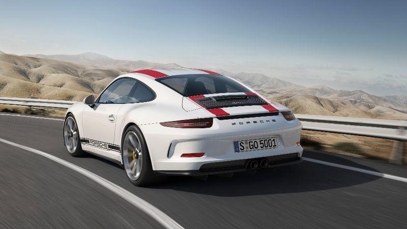 Porsche 911 R Heck Heckscheinwerfer Felgen Spoiler Kühler Auspuff