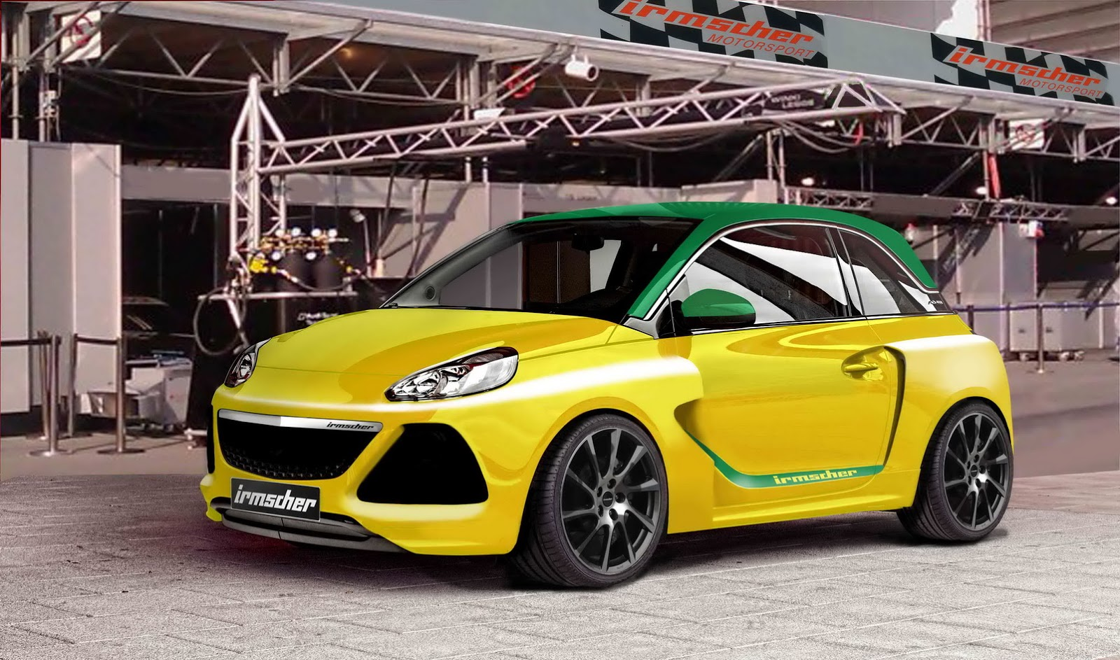 irmschers opel adam s ein tribute an den ascona a fotos. Black Bedroom Furniture Sets. Home Design Ideas