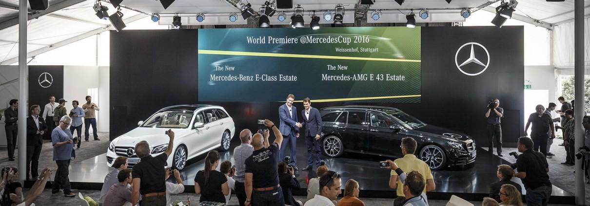 Weltpremiere des neuen E-Klasse T-Modells beim MercedesCup in Stuttgart