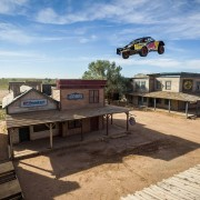 Bryce Menzies jumps at Red Bull New Frontier at Bonanza Creek Ranch in Santa Fe, New Mexico, USA on 25 August 2016.