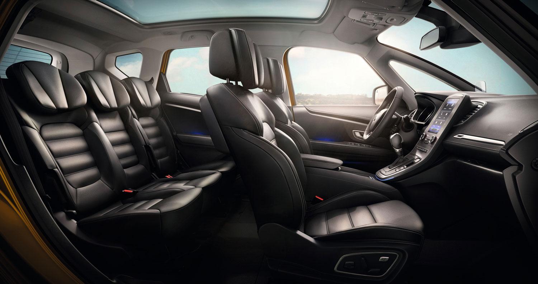 renault-scenic-interior-ledersitze-aufschnitt - Motorblock