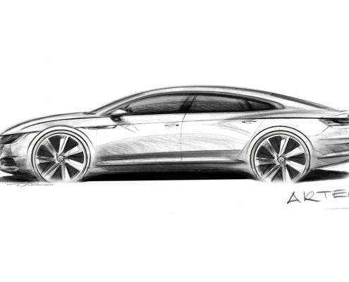 VW-ArteonSkizze