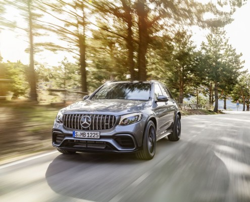 Mercedes-AMG GLC 63 S 4MATIC+, selenitgrau metallic ;Kraftstoffverbrauch kombiniert: 10,7  l/100 km; CO2-Emissionen kombiniert: 244  g/km  Mercedes-AMG GLC 63 S 4MATIC+, selenite grey; Fuel consumption combined: 10.7 l/100 km; combined CO2 emissions: 244 g/km