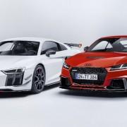 Audi R8 Performance Parts, Static photo, Colour: suzukagrey Audi TT RS Performance Parts, Static photo, Colour: catalunyared