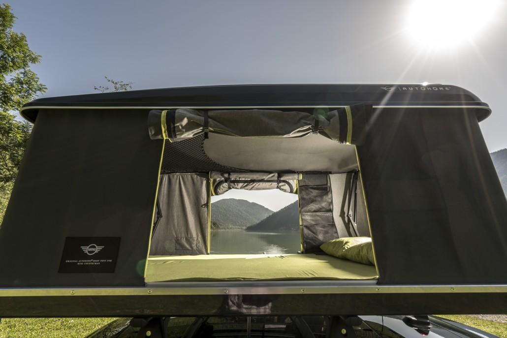 Zelt Für Mini Countryman : Der mini hat ein zelt am dach